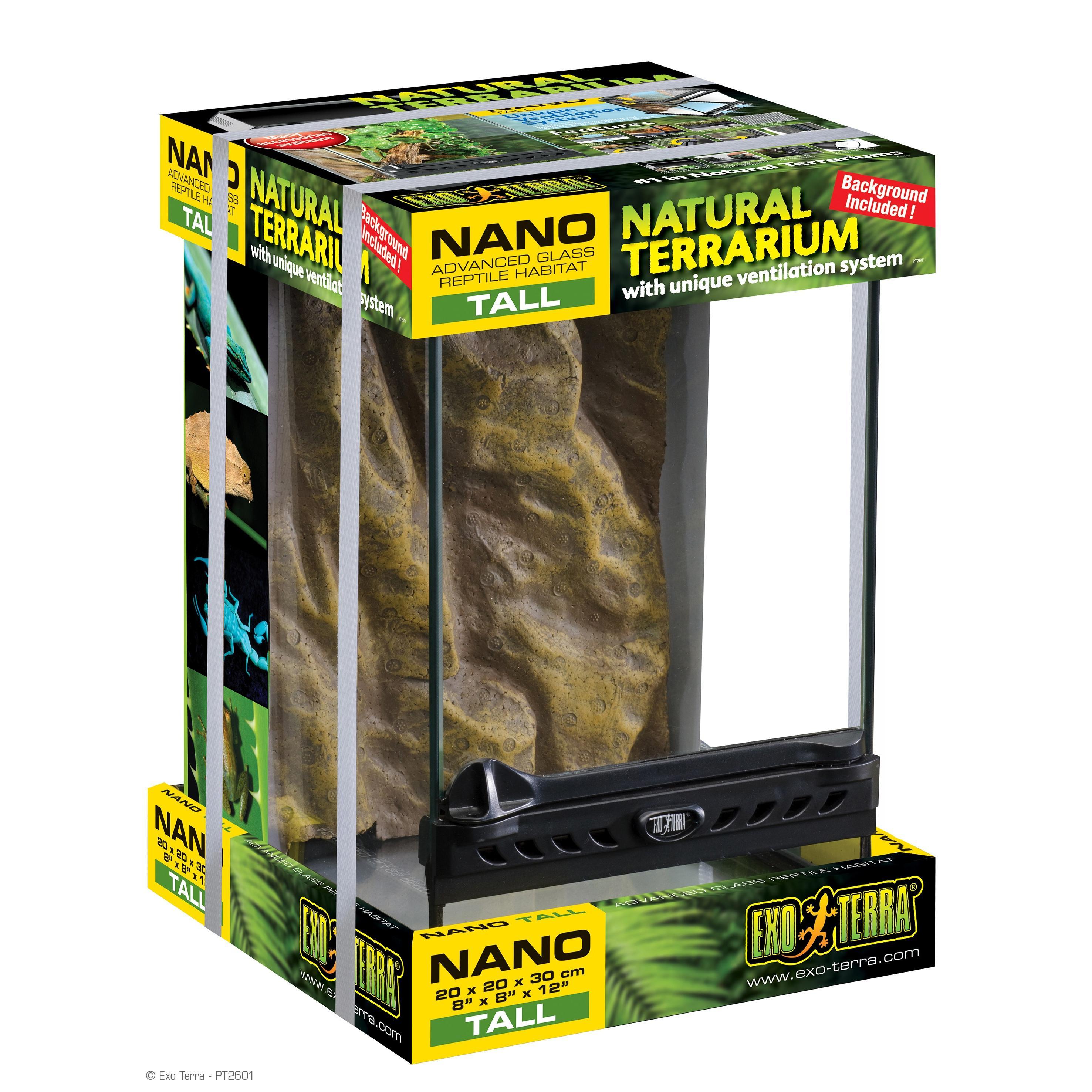 Exo Terra Natural Terrarium Nano Tall 20x20x30cm Rebel Pets