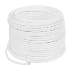 "Ro Pipe 1/4"" tube in White per meter"
