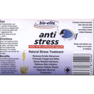 A313x Bio Elite Anti Stress Label at Rebel Pets