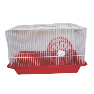 Hamster Cage with Wheel (420 x 260 x 250mm)