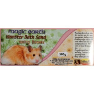 H3054 Hamster Bath Sand Sprg Flowers Label at Rebel Pets