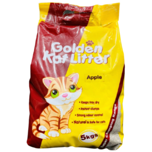 PCSA0003 Golden Kat Litter Apple 5kg at Rebel Pets