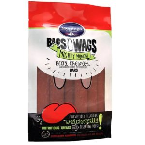 Montego Bags O' Wags Chewies Beef Bars 120g
