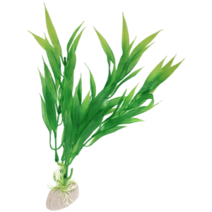 PP085B Plastic Plant Narrow Long Leaf Green 200mm at Rebel Pets