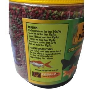A50944 Color Enhancing Goldfish Food Label2 at Rebel Pets