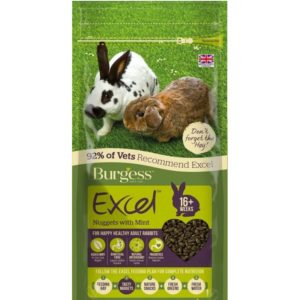 Burgess Excel Adult Rabbit Nuggets with Mint at Rebel Pets