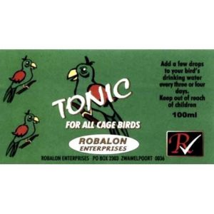 B2160 Tonic Cage Bird Label at Revel Pets