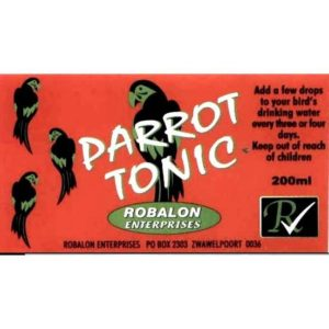 B2170 Parrot Tonic Label at Rebel Pets