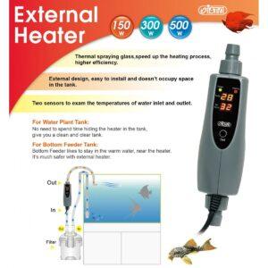 External Inline Heater Detail1 at Rebel Pets